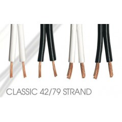 QED PERFORMANCE Luidspreker kabel 79 STRAND [2 x 2.5mm2, spoel100m] - prijs per meter C-79/100B (Zwart)
